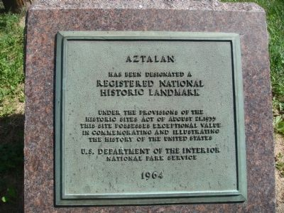Aztalan National Historic Landmark Marker Photo, Click for full size