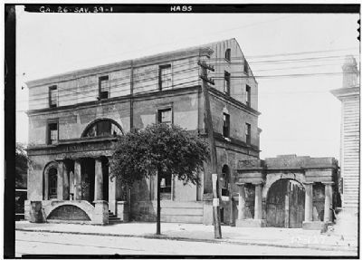 William Scarbrough House, Historic American Engineering Record , HABS GA,26-SAV,39-1 Photo, Click for full size