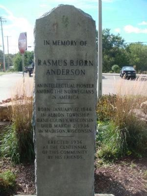 Rasmus Björn Anderson Memorial image. Click for full size.