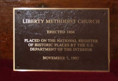 Liberty Methodist Church National Register of Historic Places image. Click for full size.