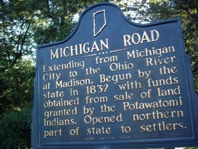 Michigan Road Marker Photo, Click for full size