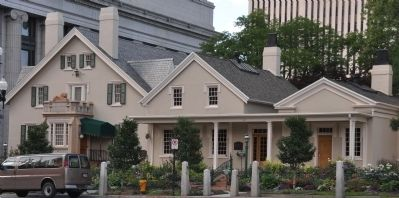 Lion House (left) and Brigham Young's Office (right) image. Click for full size.