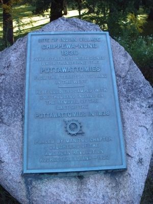 Site of Indian Village Chippewa-Nung Marker Photo, Click for full size