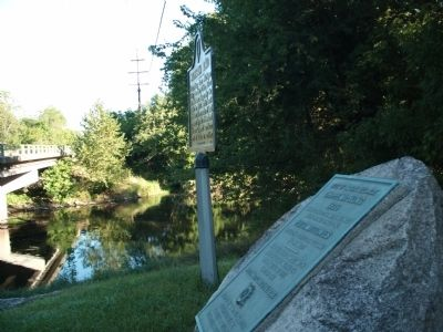 Looking North - - Site of Indian Village Chippewa-Nung Marker Photo, Click for full size