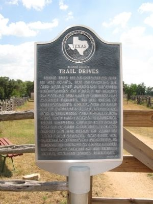Blanco County Trail Drives Marker image. Click for full size.