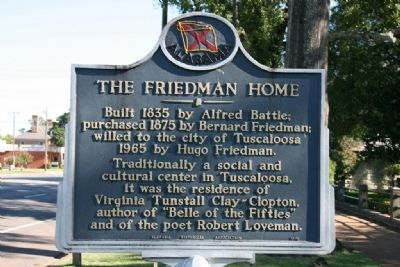 The Friedman Home Marker image. Click for full size.