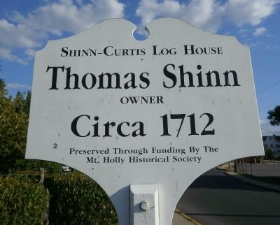 Shinn-Curtis Log House Marker image. Click for full size.
