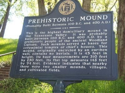 Prehistoric Mound Marker Photo, Click for full size