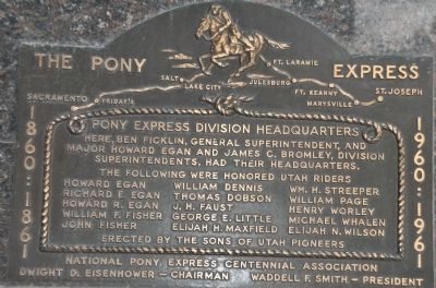 The Pony Express Centennial Marker image. Click for full size.