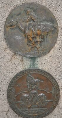 The Pony Express Monument Plaques image. Click for full size.