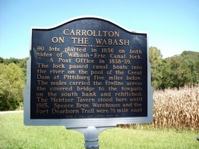 Obverse Side - - Carrollton on the Wabash Marker image. Click for full size.