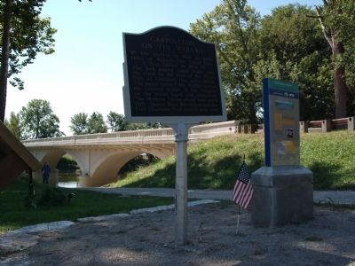 Wide View - - Carrollton on the Wabash Marker image. Click for full size.