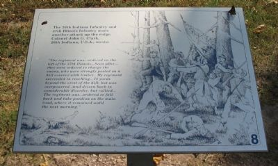 26th Indiana and 37th Illinois Infantry Marker Photo, Click for full size