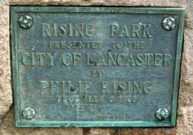Rising Park Marker image. Click for full size.