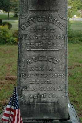Oliver Rice in the Riceville Cemetery image. Click for full size.