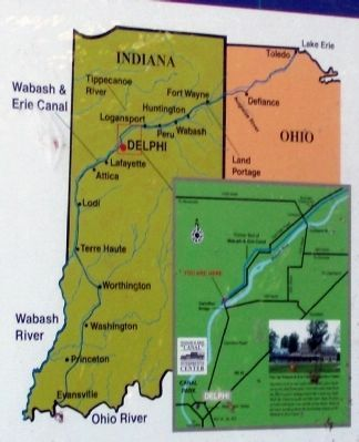 Maps - - The Wabash & Erie Canal Marker image. Click for full size.