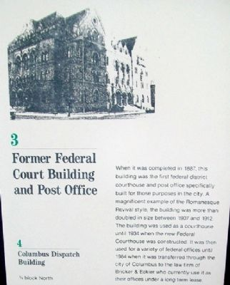 Former Federal Court Building and Post Office Marker image. Click for full size.