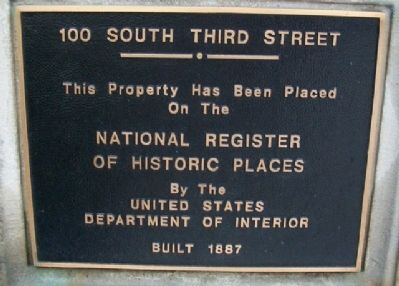 National Register Marker on Building image. Click for full size.