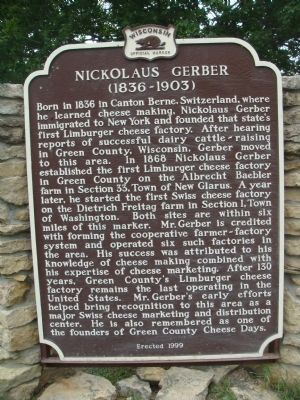 Nickolaus Gerber Marker Photo, Click for full size