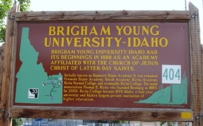 Brigham Young University - Idaho Marker image. Click for full size.