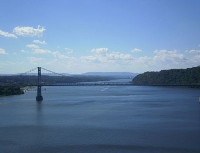 Southern view of the Mid-Hudson Bridge over the Hudson River image. Click for full size.