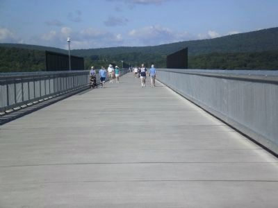 Pedestrians on the Poughkeepsie-Highland Bridge image. Click for full size.
