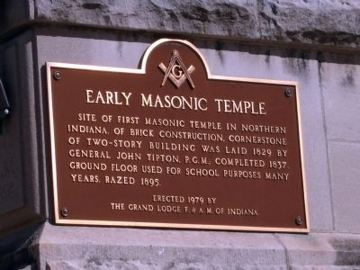 Early Masonic Temple Marker image. Click for full size.