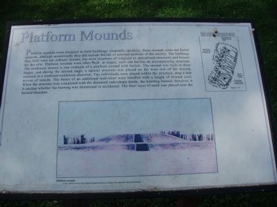 Platform Mounds Marker Photo, Click for full size