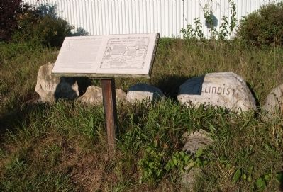 Full View - - Father Petit and the Potawatomi 'Trail of Death' Marker image. Click for full size.
