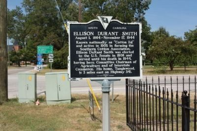 Ellison Durant Smith Marker at the intersection of US 76 and State Road 341 image. Click for full size.