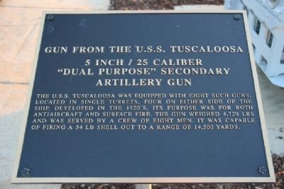 Gun from the U.S.S. Tuscaloosa Marker image. Click for full size.