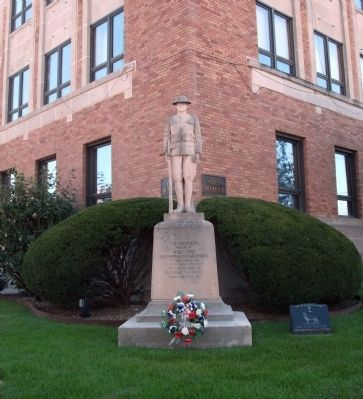 Full View - - W. W. I War Memorial - Cass County Indiana Marker image. Click for full size.
