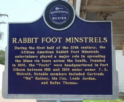 Rabbit Foot Minstrels Marker (front) image. Click for full size.