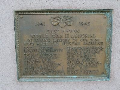 East Haven World War II Memorial Photo, Click for full size