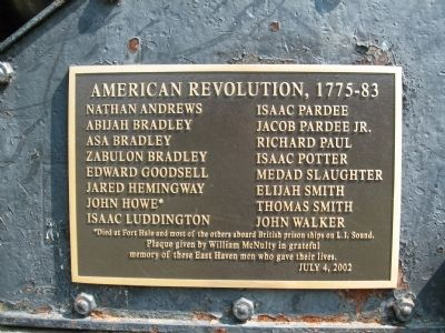 American Revolution Memorial Plaque image. Click for full size.