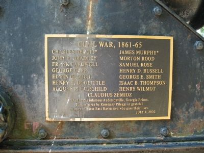 Civil War Memorial Plaque image. Click for full size.