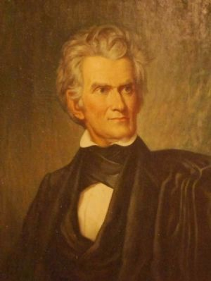 John C. Calhoun Painting<br>Located Inside the Courthouse Photo, Click for full size