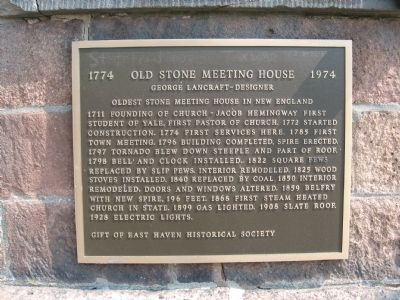 Old Stone Meeting House Marker image. Click for full size.