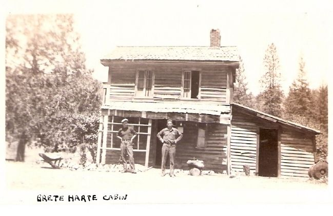 Bret Harte Cabin Photo, Click for full size