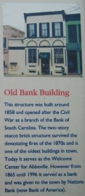 Abbeville Square Marker -<br>Old Bank Building image. Click for full size.