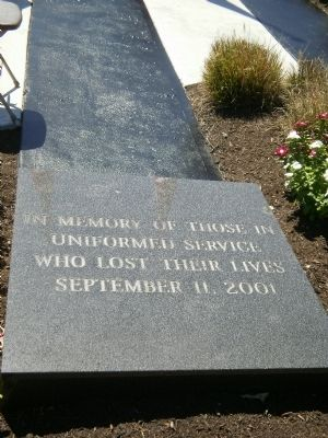 In memory of those in uniformed service who lost their lives September 11, 2001 image. Click for full size.