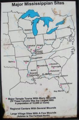Major Mississippian Sites Marker Photo, Click for full size