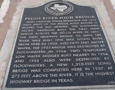 Pecos River High Bridge Marker image. Click for full size.