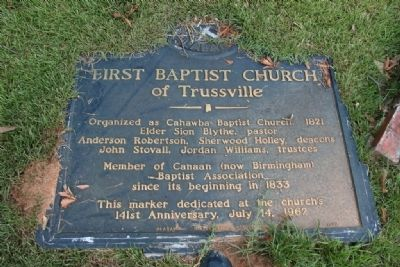 First Baptist Church of Trussville Marker image. Click for full size.