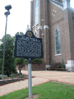 St. Michael's Catholic Church Marker & Church image. Click for full size.