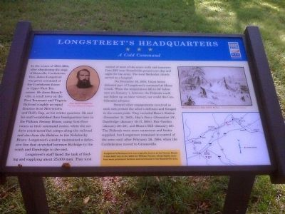 Longstreet's Headquarters Civil War Trails Marker image. Click for full size.