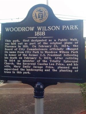 Woodrow Wilson Park Marker Photo, Click for full size