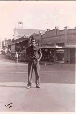 Joseph Palermo Posing on Washington Street (The Main Street of Sonora) image. Click for full size.