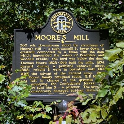 Moore's Mill Marker image. Click for full size.