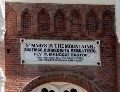 St. Mary's in the Mountains Dedication Plaque image. Click for full size.